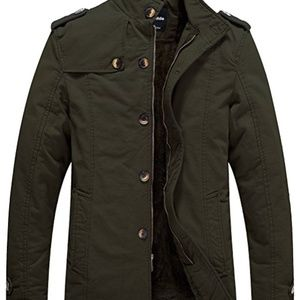 Other - NWT Men's Cotton Stand Collar Jacket With Fleece
